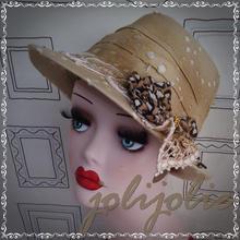 【SALE!】麦わら帽子 レディース 手作り1点物 24