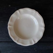 フランス製 サルグミンヌ 花リムのデザート皿(B)