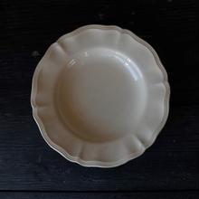 フランス製 サルグミンヌ 花リムのデザート皿(A)