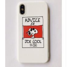 輸入雑貨 スヌーピー ケータイケース Snoopy ケータイカバー  iphone X ケース 最大種類 iphone 8 7 6 6 s-plus 52ホワイト