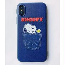 輸入雑貨 スヌーピー ケータイケース Snoopy ケータイカバー  iphone X ケース 最大種類 iphone 8 7 6 6 s-plus 53ブルー