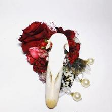 アヒル頭骨のヘッドドレス