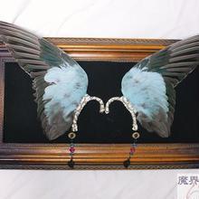 インコの翼イヤーフック(特大・水色)