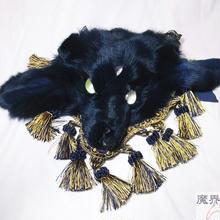 三つ目獣のヘッドドレス(紺)