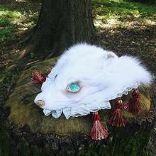 白狐のヘッドドレス