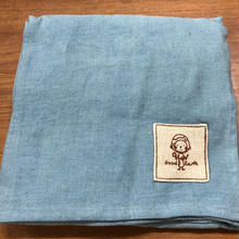 ルンギスカートターコイズブルー (リネン50コットン50)