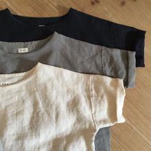 リネンのゆったりTシャツ