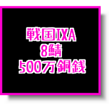 戦国ixa  8鯖  500万銅銭(1枚あたりの入札上限額あり)