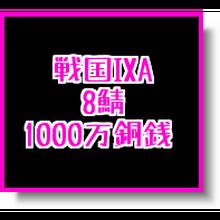 戦国ixa  8鯖  1000万銅銭(1枚あたりの入札上限額あり)