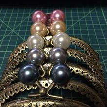 がま口 口金 真珠5色セット 古金 型紙付き