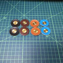 バッグ がま口用 本革マグネット 縫い付けタイプ 4色