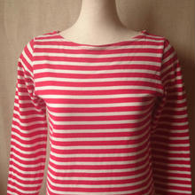 ユナイテッドアローズピンクレーベルのボーダーシャツ