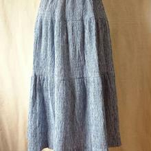 ルミノアのギンガムチェックのティアードスカート