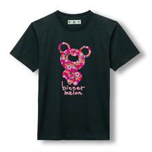 t-shirts(leaf pink×black)