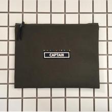 """canvas pouch """"CAPTAIN"""""""