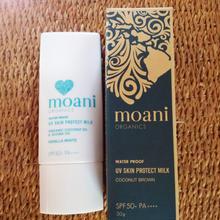 moani organics UV Skin Protect Milk Sun Screenナチュラル&オーガニック日焼け止め(ココナッツブラウン)