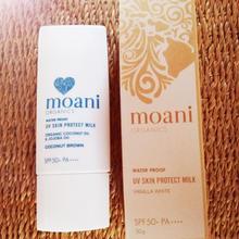 moani organics UV Skin Protect Milk Sun Screenナチュラル&オーガニック日焼け止め(バニラホワイト)