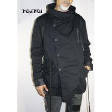 KMRii ・ケムリ・ HOODED TWIL JK・フード付・パーカー・メンズ・BLCK