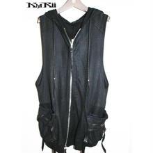 KMRii ・ケムリ・ Coating Black Raven Vest 06B・コーティング ベスト