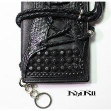 kMRii (ケムリ)・長財布・2つ折りウォレット・WL-BLACK ESTOC/STG・再入荷