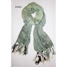 KMRii (ケムリ)フェザー ストール MAGNOLIA STOLE SS16