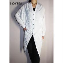 KMRii ・ケムリ・Shrunken Linen Dolman Shirt 02 LG・レディース シャツ・White