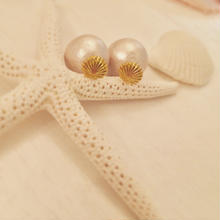 K14GF shell&pearl earrings...❤︎