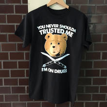 NEW      TED MOVIE OFFICIAL TEE  black
