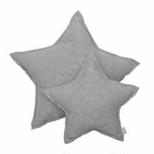 Numero74  Star cushion MINI Lace Flower  Silvergrey