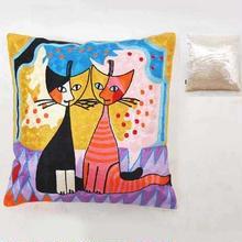刺繍クッション(45×45) ロジーナ「ロマンスⅡ」 商品番号:is1087-rc-58