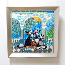 刺繍絵画(53.5×53.5) ロジーナ「ビバファミリー」 商品番号:is1087-rw-43