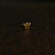 ゴールドピアス クラウン K18 ダイヤ