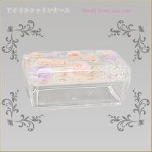 アクリルコットンケース スモールローズライトピンク 商品番号:am-nap-0125
