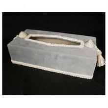 ジェニファーテイラー  ティッシュボックス ベロア ライトブルー  品番:vv-32922tb