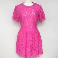 ピンクレーススカート