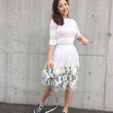 フラワー刺繍スカートセット