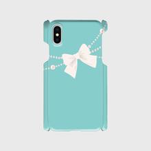 名入れ可7!Android/ iphone Plusティファニーブルーのパールリボンフラッグ柄♡スマフォケース・♪Android&iPhone 6Plus/6sPlus/7Plus/8Plus対応