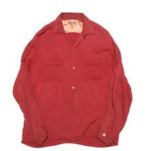 60's PiLGRIM cottonOpen  collarshirt  オープンカラーシャツ