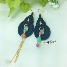 ★再販★【しずく−mini】goldチェーン ネイビー2color