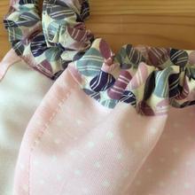 淡いピンクに白の細かいドット×LIBERTYピンク紫まる柄