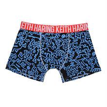 Clothmania x Keith Haring  メンズ ボクサーパンツ (Base Made UW KH010 Blue)