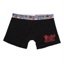 Clothmania x Keith Haring  メンズ ボクサーパンツ (Base Made UW KH006 Black)