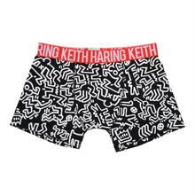 Clothmania x Keith Haring  メンズ ボクサーパンツ (Base Made UW KH010 Black)