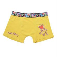 Clothmania x Keith Haring  メンズ ボクサーパンツ (Base Made UW KH009 Yellow)