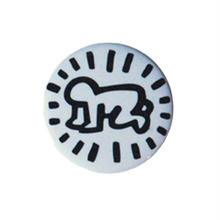 Keith Haring Round Magnet (Radiant Baby) White