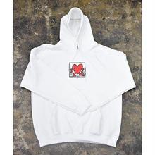Nouno Keith Haring Icon Parka  <White / Walking Heart> KH-NN1720