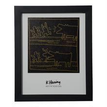 Barking Dog Framed Poster  額装ポスター  ドッグ  (サイズ 25.5×20.3cm)