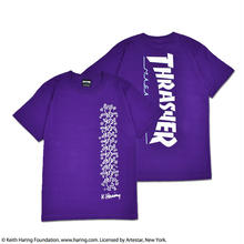 Thrasher × Keith Haring T-Shirts 2018 People Ladder (Purple)