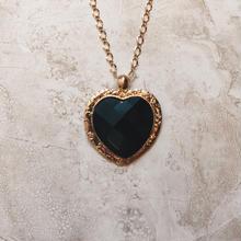 big black heart necklace