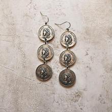 antique silver coin 3 pierce
